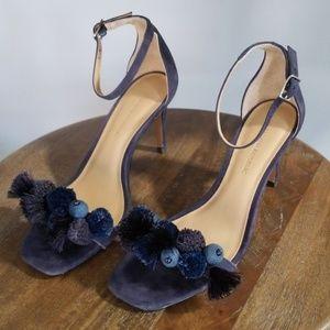 Banana Republic embellished sandal heels